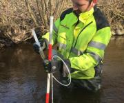 Måling af vandkvaliteten i Susåen